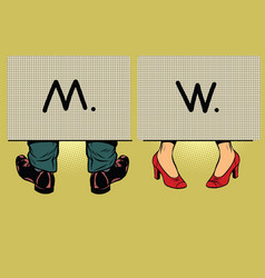 Male and female toilet vector