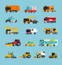 Special and emergency transport infographics vector