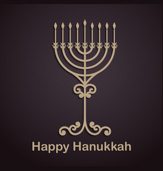 hanukkah background with menorah vector image