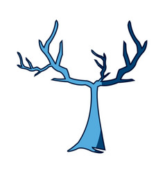 Blue tree withered branching free spirit rustic vector