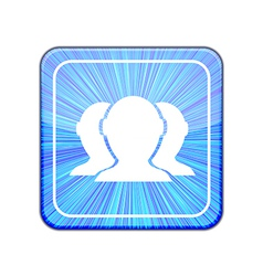 Version group of friends icon eps 10 vector