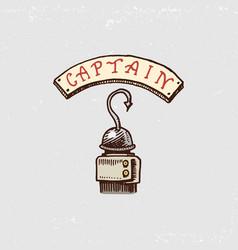 Set of engraved hand drawn old labels or badges vector