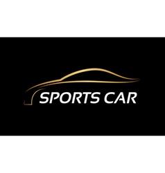Sports car LOGO vector image
