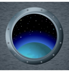 window with space vector image