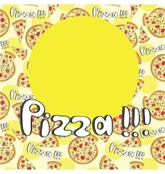 Doodle style pizza seamless cover fore menu vector