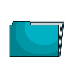 Business folder with information inside vector