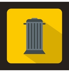Street trash icon flat style vector