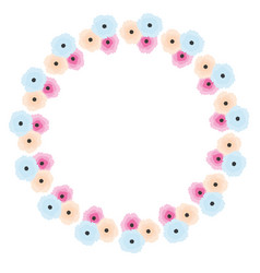abstract floral wreath in soft pastel colors vector image vector image