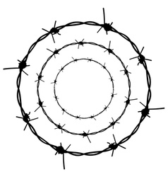 Barbed wire silhouette5 vector