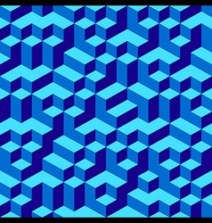 Blue Geometric Volume Seamless Pattern Background vector image