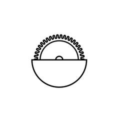circular saw icon vector image