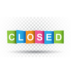 Closed tag market message flat on isolated vector