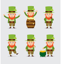 Cute cartoon leprechaun for saint patrick vector