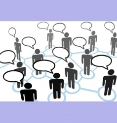 everybody talking vector image vector image