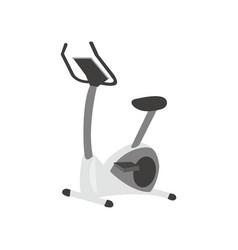 exercise bike fitness equipment cartoon vector image