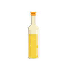 glass bottle of natural olive or sunflower oil vector image