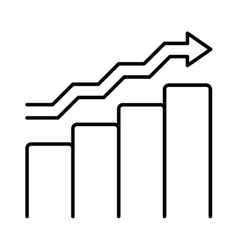 growing chart graph icon business arrow vector image