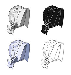 Headpiece single icon in cartoon styleheadpiece vector