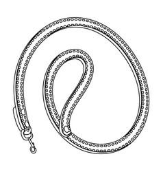 leash for animalspet shop single icon in black vector image vector image