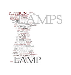 Modern lamps text background word cloud concept vector