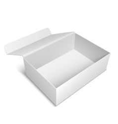Opened White Box vector image vector image