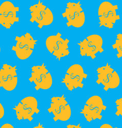 Piggy bank pattern color vector image vector image