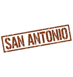 San antonio brown square stamp vector