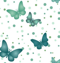 Seamless blue grey butterfly pattern vector image vector image