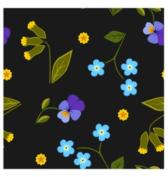 Seamless pattern summer flower vector