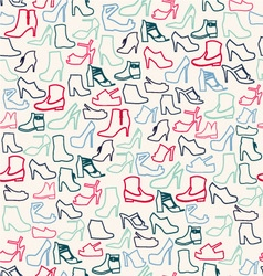 Shoes pattern fashion womens shoes vector