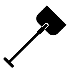 Shovel icon simple style vector