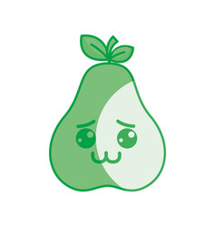 Silhouette kawaii nice shy pear icon vector