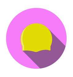 Sport swimming cap icon vector