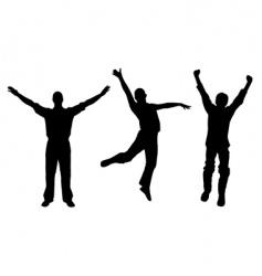 winners and happy men vector image