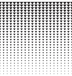 Triangles halftone pattern vector