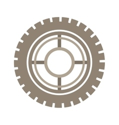 Brown silhouette gear wheel icon vector