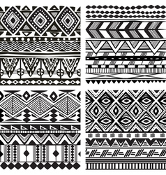 Seamless tribal texture vector image