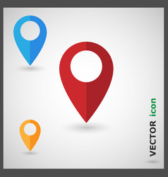 Map pin pointer marker icon vector