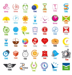 Biggest collection of logos time vector