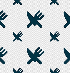Eat cutlery icon sign seamless pattern with vector