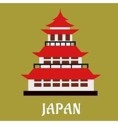 Japanese traditional pagoda flat icon vector image