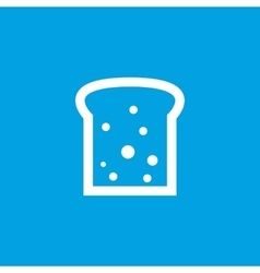 Bread slice icon white vector