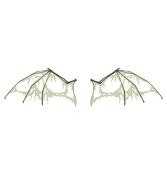 Decayed bat wings vector
