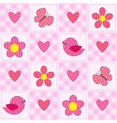 Pink pattern vector