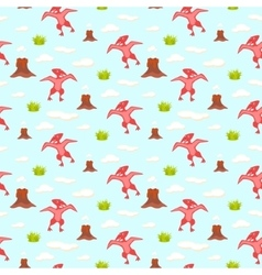 Pterodactyl kid seamless pattern for vector