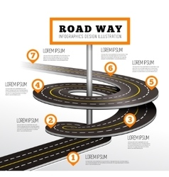 Road way design infographics vector