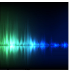 Abstract equalizer background blue-green wave vector