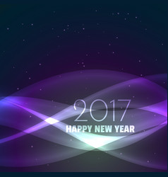 Amazing 2017 happy new year background with shiny vector