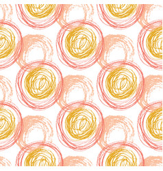 Autumn seamless pattern with orange circle vector