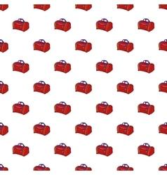 Bag pattern cartoon style vector image
